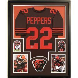 Jabrill Peppers Signed Cleveland Browns 34x42 Custom Framed Jersey (JSA COA)