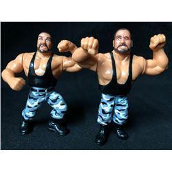 WWF Hasbro The Bushwhackers Luke/ Butch Wrestling Figures (Rare)