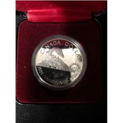 1886-1986 Canada Silver Dollar Coin 100th Anniversary of Vancouver Steam Train