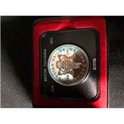 1871-1971 British Columbia Silver Dollar