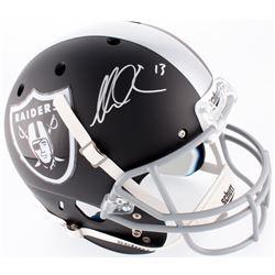 Mike Evans Signed Raiders Custom Matte Black Full-Size Helmet (PSA Hologram)