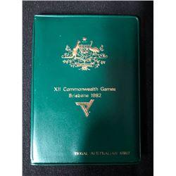 X II COMMONWEALTH GAMES BRISBANE 1982 COIN SET