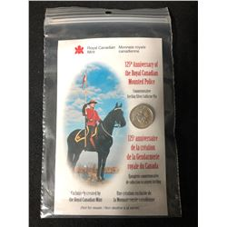 125TH ANNIVERSARY OF THE ROYAL MOUNTED CANADIAN POLICE COMMEMORATIVE STERLING SILVER COLLECTOR PIN