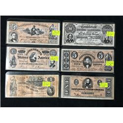 "1962 Topps ""Civil War News"" Currency Inserts"