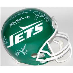 "Jets ""New York Sack Exchange"" Full-Size Throwback Helmet Signed by (4) KLECKO/ GASTINEAU.. (JSA COA)"