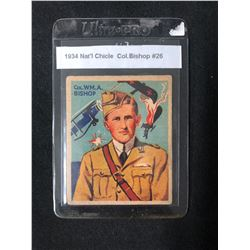 1934 NATIONAL CHICLE COL. BISHOP #26 SKY BIRDS CARD