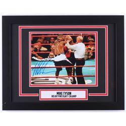 "Mike Tyson Signed ""Holyfield Ear Bite"" 14x18 Custom Framed Photo Display (JSA COA)"