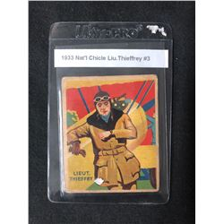 1933 NATIONAL CHICLE LIU. THIEFFREY #3 SKY BIRDS CARD