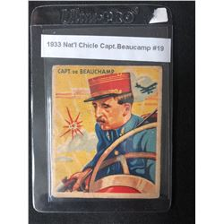 1933 NATIONAL CHICLE CAPT. BEAUCAMP #19 SKY BIRDS CARD