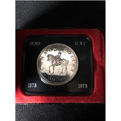 1873 - 1973 Canadian RCMP / GRC Silver Dollar