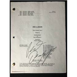 "PATRICK DEMPSEY SIGNED "" GREY'S ANATOMY"" MOVIE SCRIPT WITH COA"