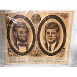 "Vintage Print Lincoln & Kennedy ""The Parallel"""