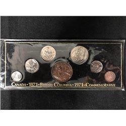 1871-1971 CANADA BRITISH COLUMBIA COMMEMORATIVE COIN SET