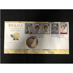 DIANA PRINCESS OF WALES 1961-1997 MEMORIAL COIN PHILATELIC NUMISMATIC COVER (ROYAL MINT)