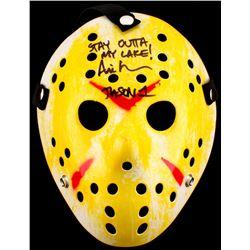 "Ari Lehman Signed Jason ""Friday the 13th"" Hockey Mask Inscribed ""Stay Outta My Lake!"" (PA COA)"