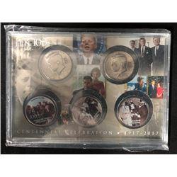 1917-2017 CENTENNIAL CELEBRATION U.S.A COIN SET (JFK 100)