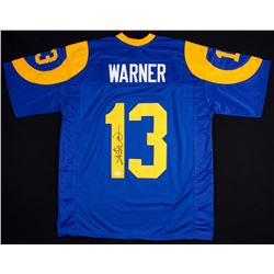 Kurt Warner Signed Rams Jersey Inscribed (JSA COA)