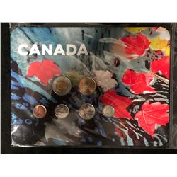 RCM Canada 2010 Maple Leaves 6 Coin Collector Card Set