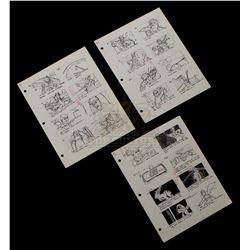 """Back to the Future - Production Used """"Clock Tower"""" Storyboard Prints - II222"""