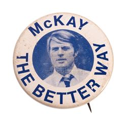Candidate, The – Bill McKay (Robert Redford) Campaign Button - II286