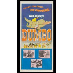 Dumbo – Original Vintage 1976 Re-Release Australian Daybill Poster - II405