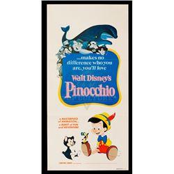 Pinocchio – Original Vintage 1982 Re-Release Australian Daybill Poster - II406
