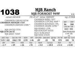 MJB FORMOST 949F