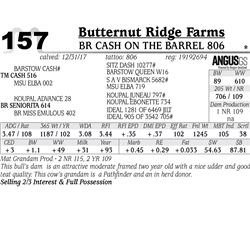 BR Cash On the Barrel 806
