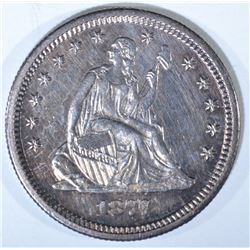 1877-S SEATED QUARTER, BU SEMI-PL