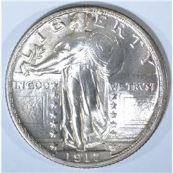 1917 TYPE-2 STANDING LIBERTY QUARTER, BU