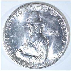 1920 PILGRIM COMMEM HALF DOLLAR, CH BU