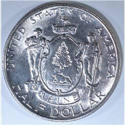 1920 MAINE COMMEM HALF DOLLAR, CH BU+