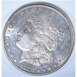 1878-S MORGAN DOLLAR, CH BU PL scratched