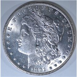 1891 MORGAN DOLLAR, CH BU BETTER DATE