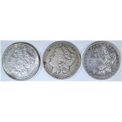 3-BETTER DATE MORGAN DOLLARS: