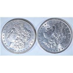 1890 & 1890-S CH BU MORGAN DOLLARS