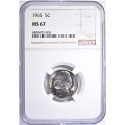 1965 JEFFERSON NICKEL NGC MS-67 RARE