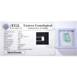 4.5 CARATS NATURAL EMERALD W/ EGL CERT