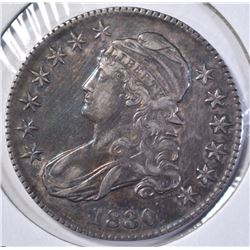 1830 BUST HALF DOLLAR CH AU NICE COLOR
