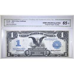 1899 $1 SILVER CERTIFICATE CGA GEM CU