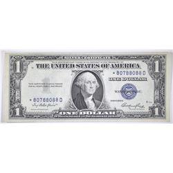 1935-E $1 SILVER CERT STAR NOTE FANCY SERIAL #