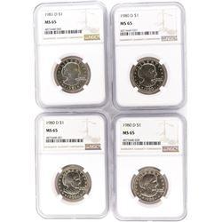 (3) 1980 D, 81D SUSAN B ANTHONY DOLLARS
