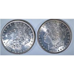 1882 & 82-O MORGAN DIOLLARS, CH BU++ FLASHY!