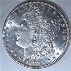 1883 MORGAN DOLLAR, CH BU SEMI-PL