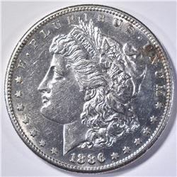 1886-S MORGAN DOLLAR, CH BU OBV PL
