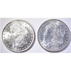1887-O & 1904-O CH BU MORGAN DOLLARS