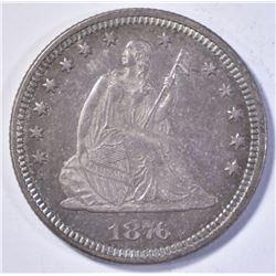 1876 SEATED LIBERTY QUARTER CH/GEM BU