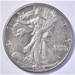 1938-D WALKING LIBERTY HALF DOLLAR BU