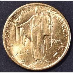1926 $2.5 GOLD SEQUI COMMEMORATIVE CH BU