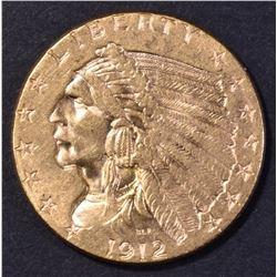 1912 $2.5 GOLD INDIAN CH BU